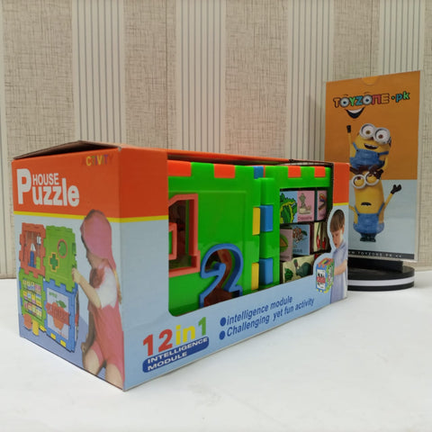 Image of 12-In-1 Intelligence Puzzle House for Kids Toy