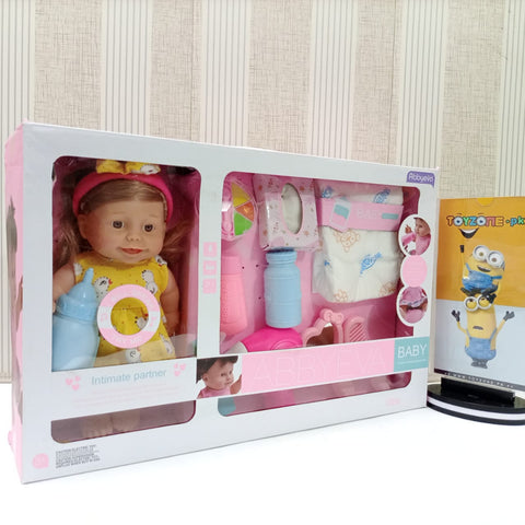 Abbyeva Little Alive Baby Doll Play Set With Accessories