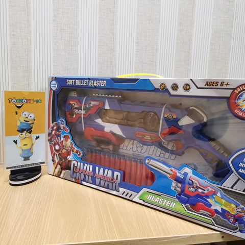 Image of Big Avenger Captain America Soft Bullet Blaster Gun
