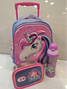 Unicorn Toddler Trolley School Bag
