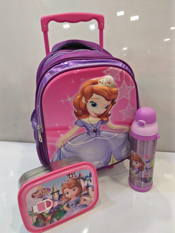 Little Princess Sofia the First Fairy Toddler Trolley School Bag