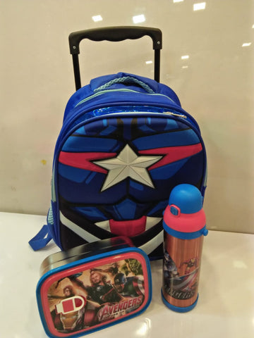 Marvel Classic Cosplay Toddler Trolley School Bag