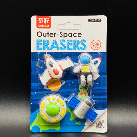 Fancy Pencil Erasers - Outer-Space - TZP1