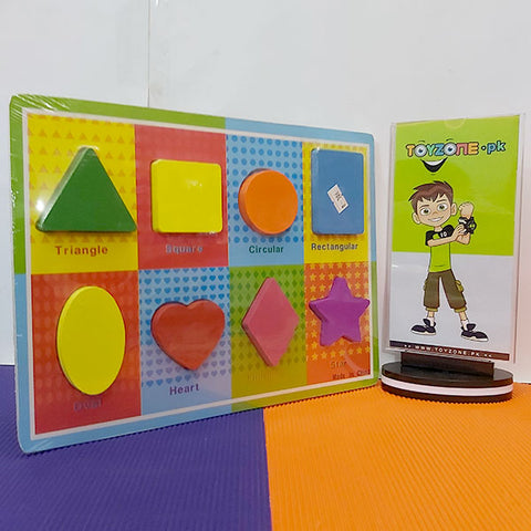 Wooden Learning Board Geometric Shapes