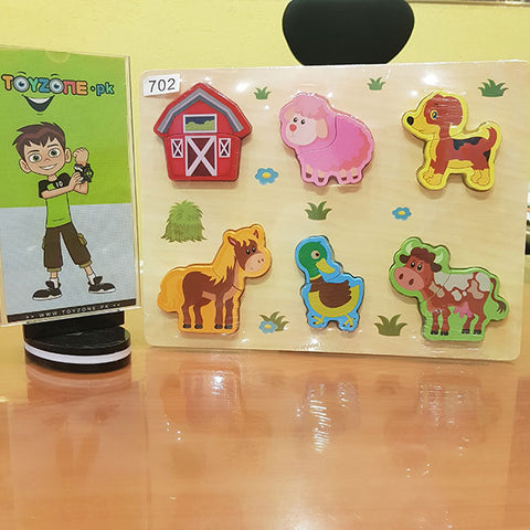 Image of Wooden Peg Puzzles Animals
