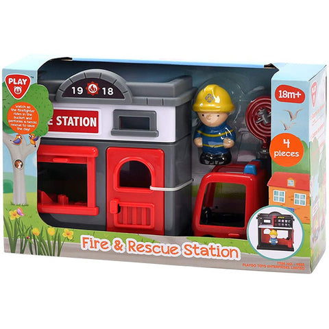 PlayGo Rescue and Fire Station