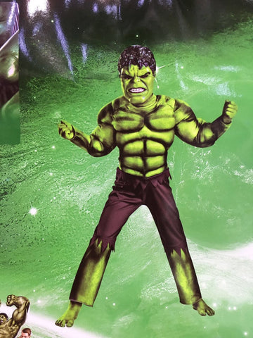 Image of BOYS DELUXE HULK COSTUME