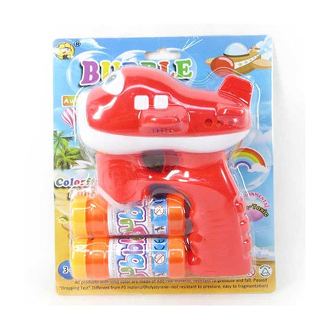 Image of Airplane Shaped Bubble Gun With Light & Sound