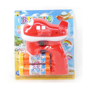 Airplane Shaped Bubble Gun With Light & Sound