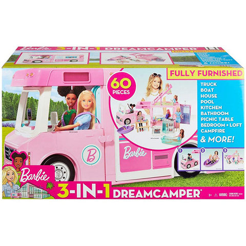 Barbie 3-In-1 Dream Camper Vehicle And Accessories