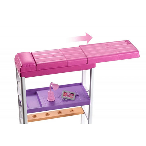Image of Mattel Barbie Office and Bedroom With Doll