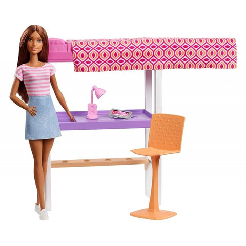 Image of Mattel Barbie Office and Bedroom With Doll FXG52/DVX51
