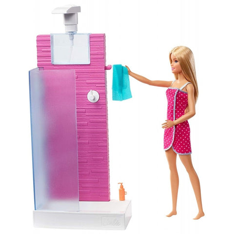 Mattel Barbie Shower Blonde Doll