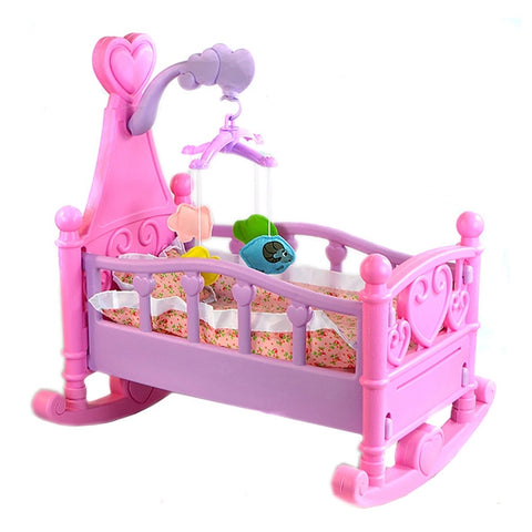 Image of Sweet Baby Rocking Bed With Doll