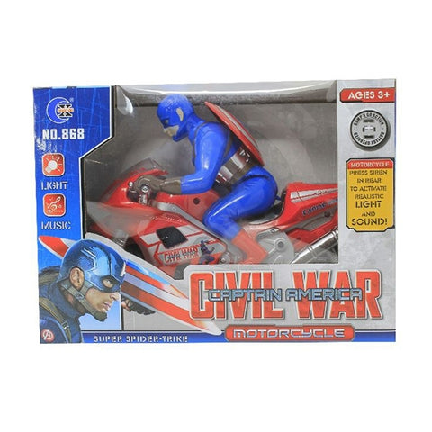 Image of Captain America Civil War Motor Bike-HB-868