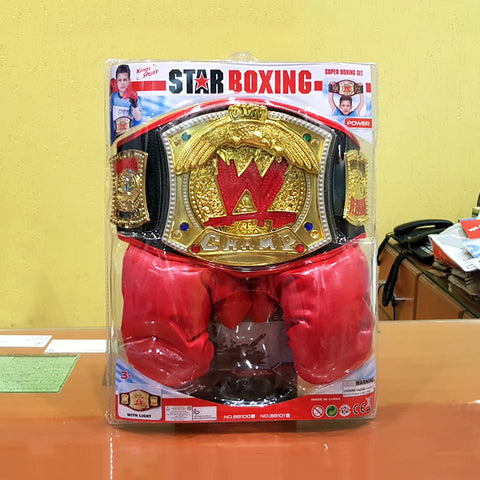 Image of WWE Belt with Boxing Gloves-bb101