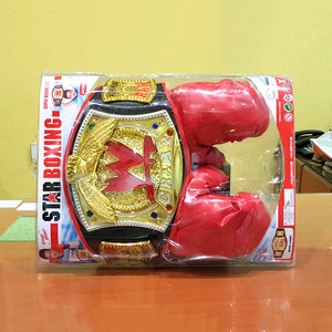WWE Belt with Boxing Gloves