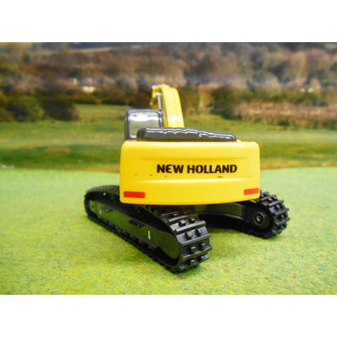 Image of BURAGO 1/50 NEW HOLLAND EXCAVATOR ON RUBBER TRACKS