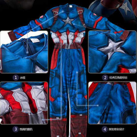 Image of Captain America Muscle Costume