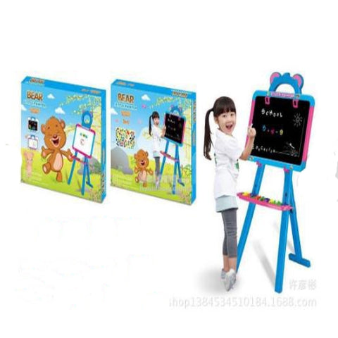 Children Kids Two Sided White & Black Learning Board with Stand