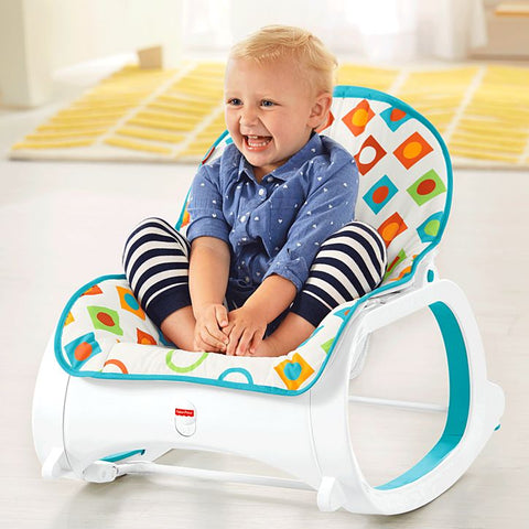 Image of Fisher Price Infant-to-Toddler Rocker Geo Diamonds