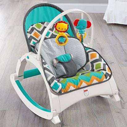 Fisher Price Newborn-to-Toddler Rocker - Glacier Wave-CMR13