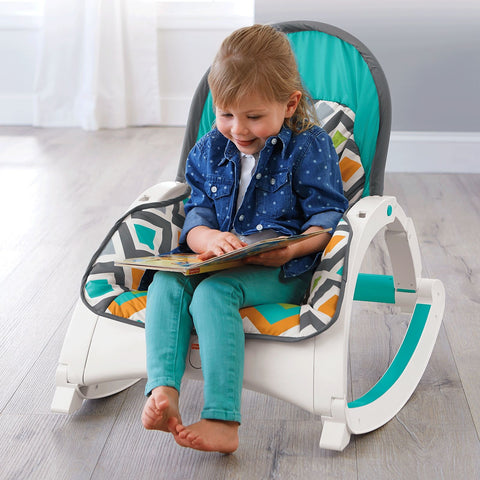 Image of Fisher Price Newborn-to-Toddler Rocker - Glacier Wave