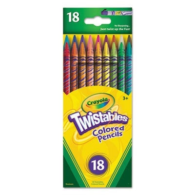 Image of  Crayola Twistable Colored Pencils, 18 Count-687418