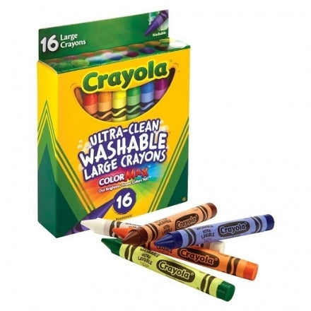 Crayola Ultra-Clean Washable Large Crayons 16pcs