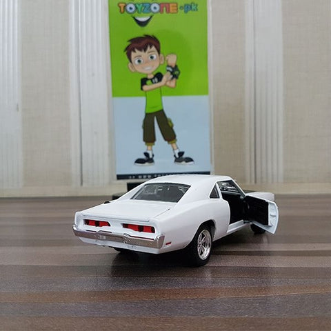 Image of Diecast Dodge Challenger With Light & Sound Scale 1:24