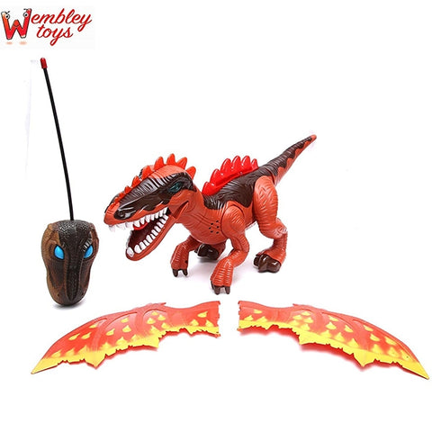 Remote Control Big Walking Dinosaur with Amazing Lights (RED)