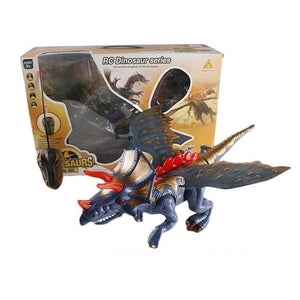 Remote Control Big Walking Dinosaur with Amazing Lights (Blue)