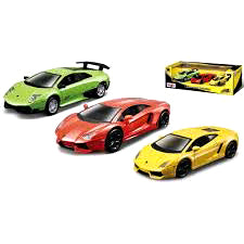 Image of Maisto Diecast Fresh Metal Power Racer 3 pack Lamborghini YT-21075