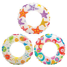 Image of Intex Lively Print Swim Ring 6 To 10 Years