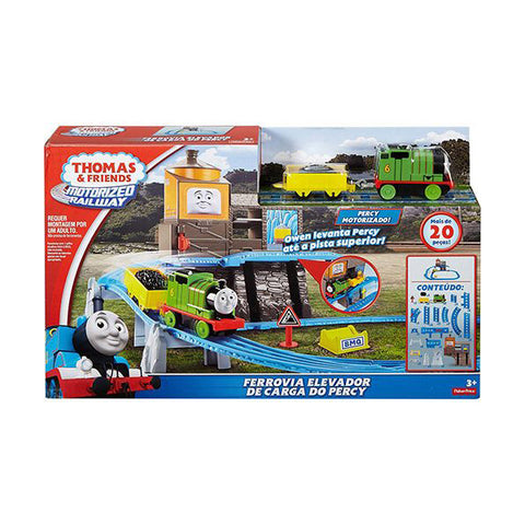 Image of Thomas & Friends™ Motorized Railway Percy's Load & Lift Set--DFL92