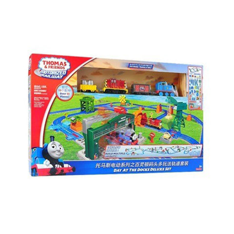 Thomas & Friends™ Motorized Railway Day at the Docks Deluxe Set-DHC80