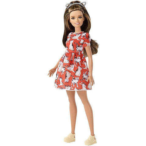 Image of Barbie Fashionistas Doll - Petite with Brunette Waves