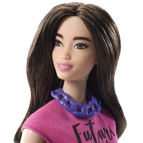Image of Barbie® Fashionistas Doll– Curvy with Long Dark Waves