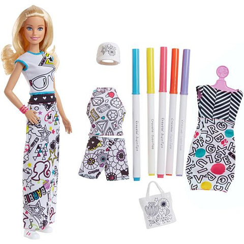 Image of Barbie Crayola Color In Fashion Doll-FPH90