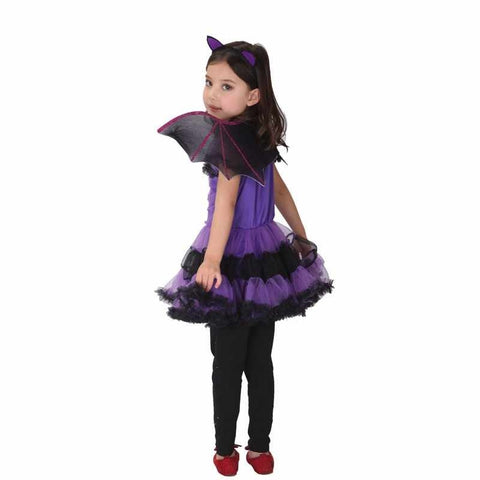 Halloween Purple Bat girl Costume