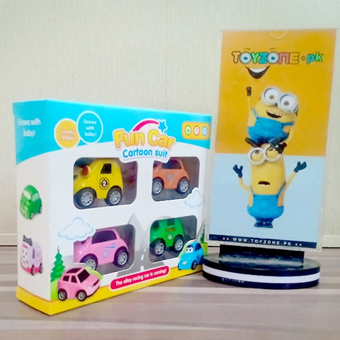 Image of Mini Cartoon Pull Back Cars