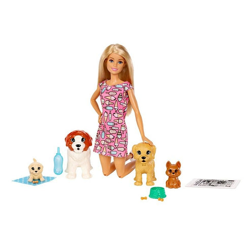 Barbie Doggy Daycare Doll & Pets--FXH08