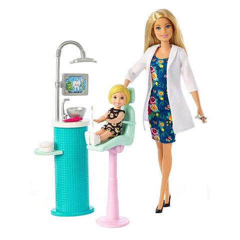 Image of Barbie Dentist Doll & Playset