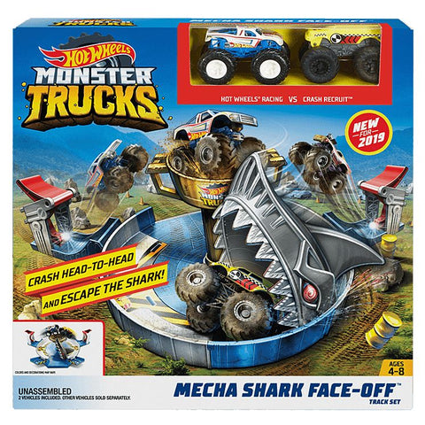 Hot Wheels® Monster Trucks Mecha Shark Face-Off Play Set