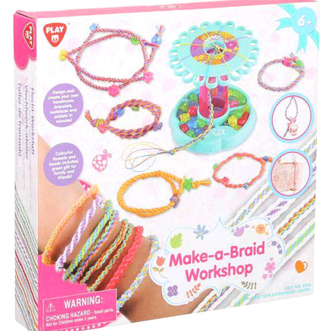 PlayGo Make-a-Braid Workshop Toy for Girls - Multi Color