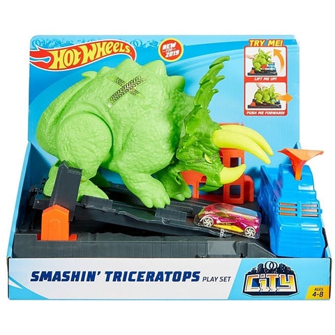 Hot Wheels® Smashin' Triceratops Play Set GBF97