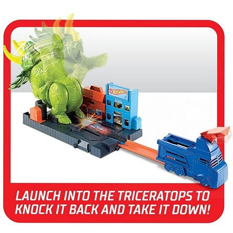 Hot Wheels Smashin' Triceratops Play Set