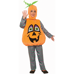 Halloween Kids Wiggle Eyes Pumpkin Costume