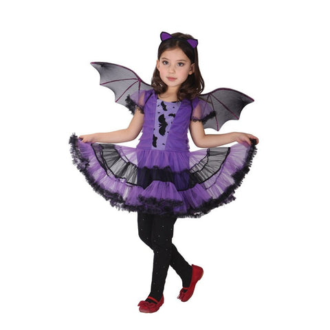 Image of Halloween Purple Bat girl Costume