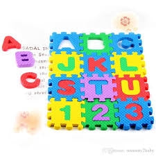 Image of Kids Floor Play Mat With Numbers & Letters-HB-TH-66302